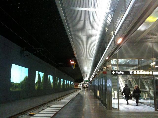 Malmö Central Station's new underground platforms