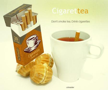tea as cigarettes
