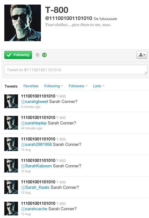 Terminator T-800 On Twitter