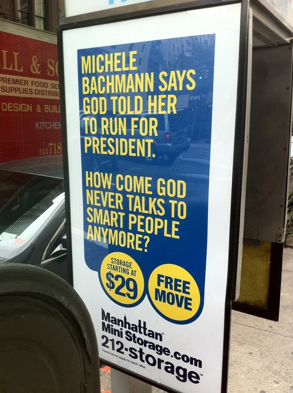 Bachmann storage company ad