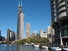 Sears Tower from Chicago River
