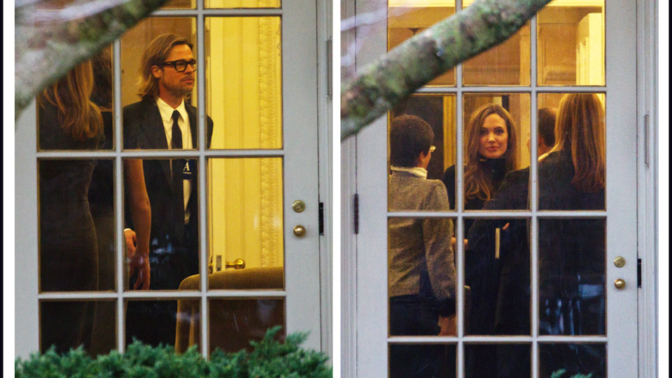 Brangelina at the White House