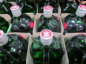 Bottles of Tanqueray London Dry Gin.