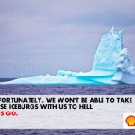 Shell icebergs in hell