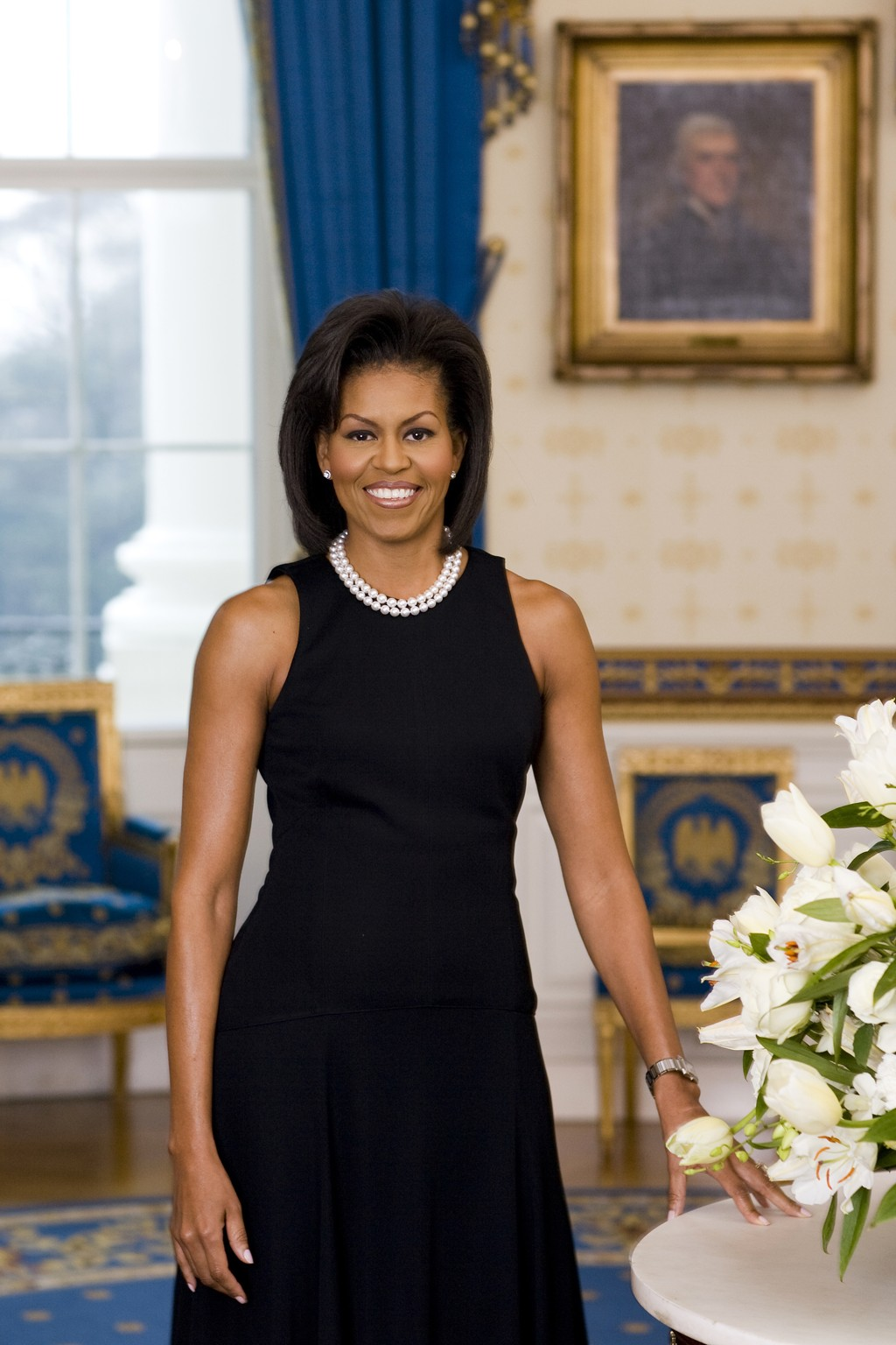 Michelle Obama's 2009 official portrait